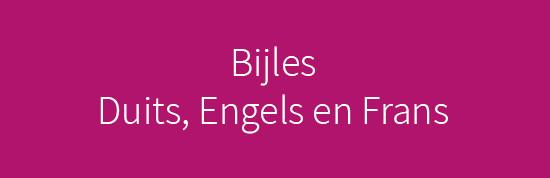 Bijles Duits Engels en Frans