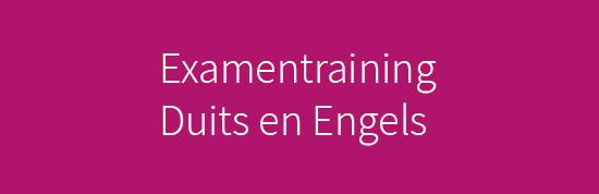 Examentraining Duits en Engels